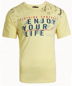 Мъжка тениска X2050 жълт - Alf.bg