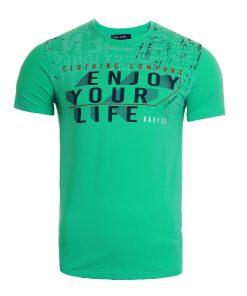 Мъжка тениска X2050 зелен - Alf.bg