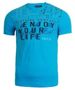 Мъжка тениска X2050 светлосин - Alf.bg
