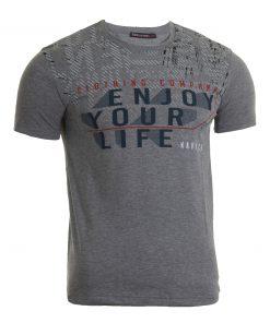 Мъжка тениска X2050 сив - Alf.bg