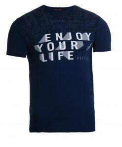 Мъжка тениска X2050 тъмносин - Alf.bg