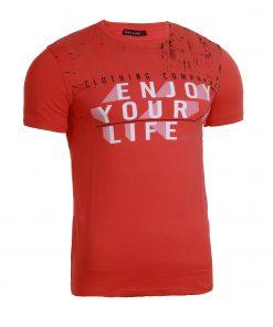 Мъжка тениска X2050 червен - Alf.bg