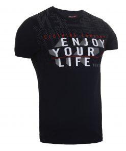 Мъжка тениска X2050 черен - Alf.bg