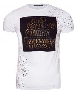 Мъжка тениска X2051 бял - Alf.bg