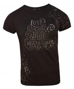 Мъжка тениска X2051 черен - Alf.bg