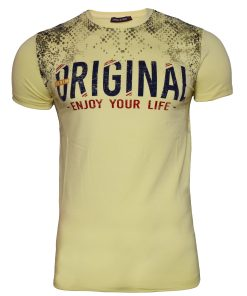 Мъжка тениска X2052 жълт - Alf.bg