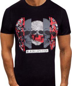 Мъжка тениска X2054 Черен - Alf.bg