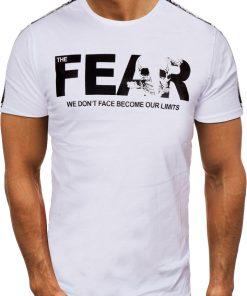 Мъжка тениска X2056 Бял - Alf.bg