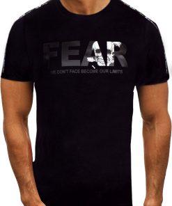 Мъжка тениска X2056 Черен - Alf.bg