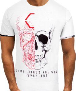 Мъжка тениска X2057 Бял - Alf.bg