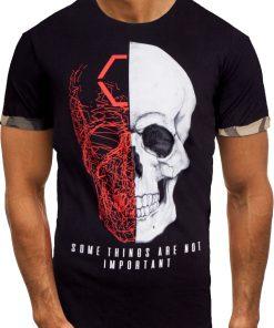 Мъжка тениска X2057 Черен - Alf.bg