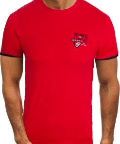 Мъжка тениска X2058 Червен - Alf.bg