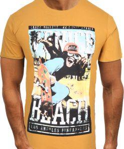 Мъжка тениска X2061 Жълт - Alf.bg