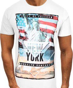 Мъжка тениска X2064 Бял - Alf.bg