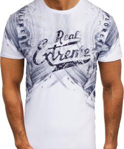 Мъжка тениска X2068 Бял - Alf.bg