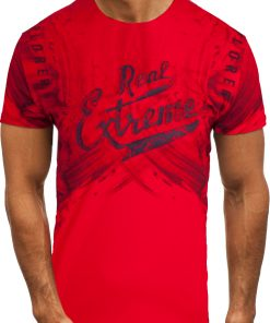 Мъжка тениска X2068 Червен - Alf.bg