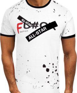 Мъжка тениска X2072 Бял - Alf.bg