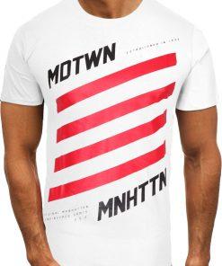 Мъжка тениска X2074 Бял - Alf.bg