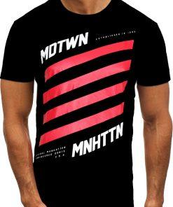 Мъжка тениска X2074 Черен - Alf.bg