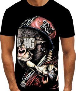 Мъжка тениска X2077 Черен - Alf.bg