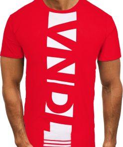 Мъжка тениска X2080 Червен - Alf.bg
