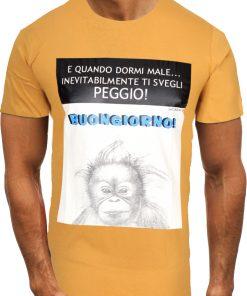 Мъжка тениска X2082 Жълт - Alf.bg