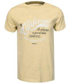 Мъжка тениска X2092 Жълт - Alf.bg