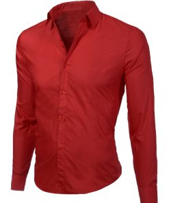 Мъжка червена риза