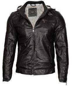 Мъжко зимно кожено яке - 3160 - Alf.bg