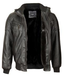 Мъжко зимно кожено яке - 3221 - Alf.bg