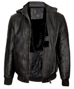Мъжко зимно кожено яке - 3223 - Alf.bg