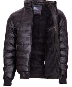 Мъжко зимно кожено яке - 3225 - Alf.bg