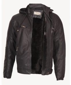 Мъжко кожено яке – P3201 - Alf.bg