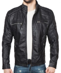 Мъжко кожено яке - 3173 - Alf.bg