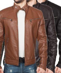 Мъжко кожено яке - 3182 - Alf.bg