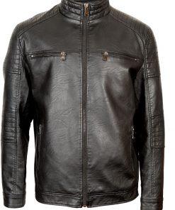 Мъжко кожено яке 3243 - Батал - Alf.bg