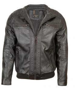 Мъжко кожено яке - 3245 бомбър - Alf.bg