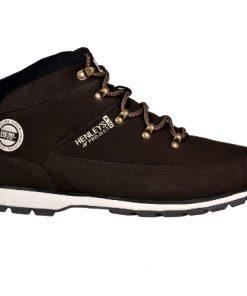 Тъмно кафяви кожени зимни обувки Henleys - Alf.bg