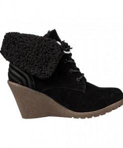 Adidas Neo Chill - дамски зимни обувки на платформа - черно - Alf.bg